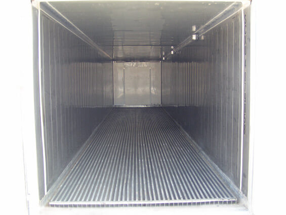 Inside a Refrigerated Container