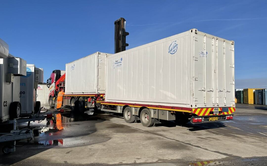 How is a refrigerated container delivered?